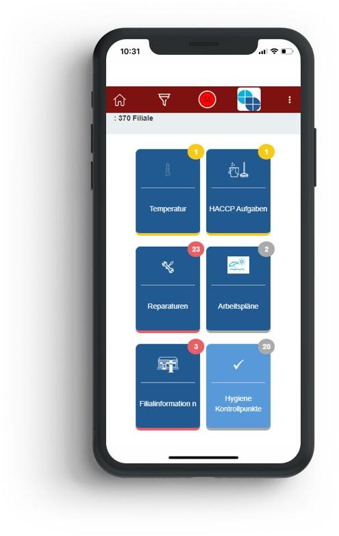 Die AWENKOback App auf dem Handy