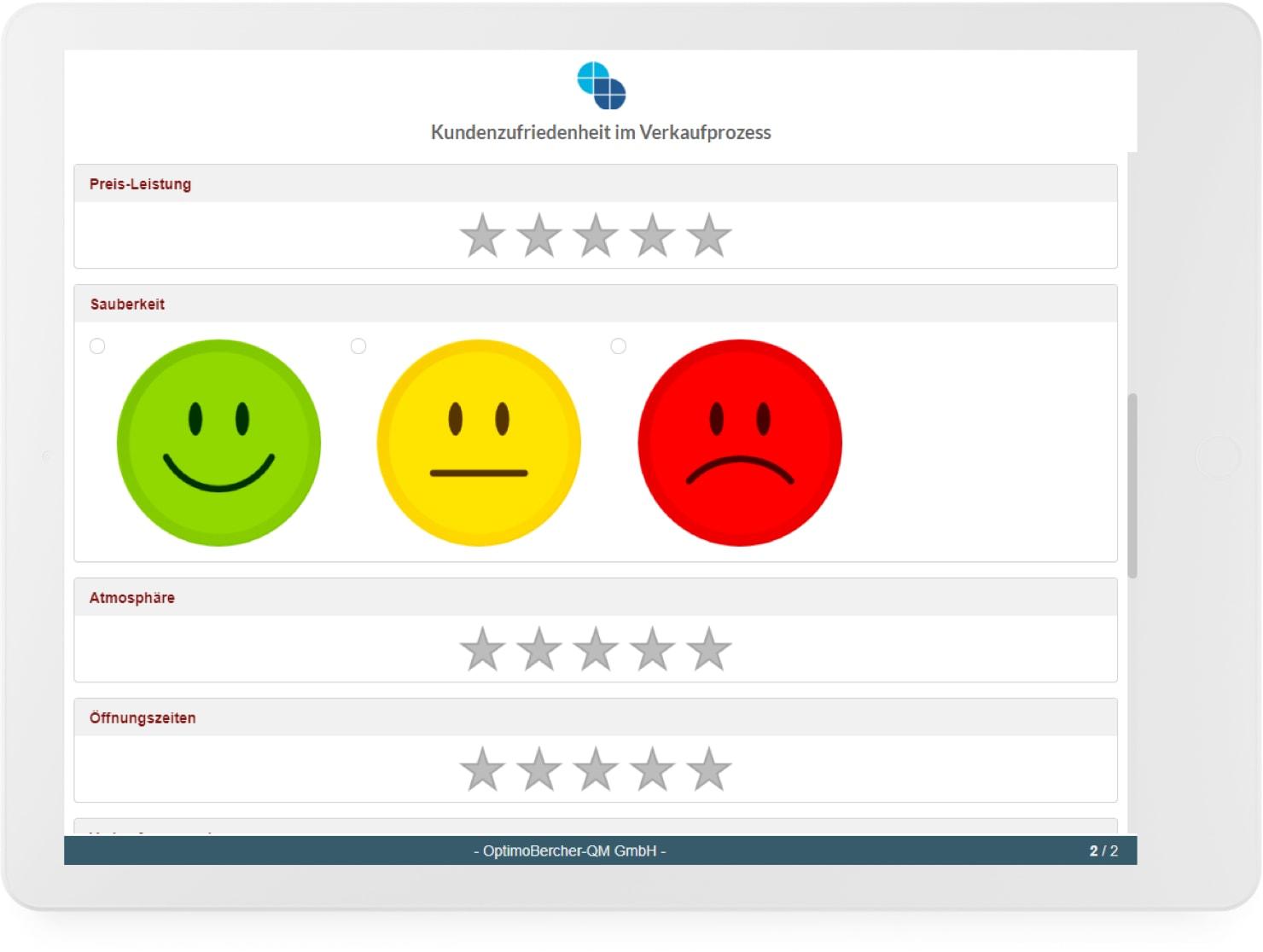 Die Meinung der Kunden ins Qualitätsmanagement mit einbeziehen mit Hilfe von anonymen Umfragen, die per QR-Code oder als Link bereitgestellt werden können.